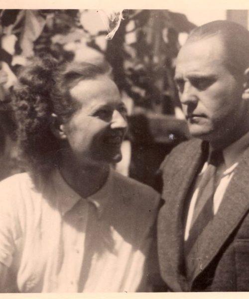 Annemarie, seu nome de solteira e Artur Primavesi, recém casados.