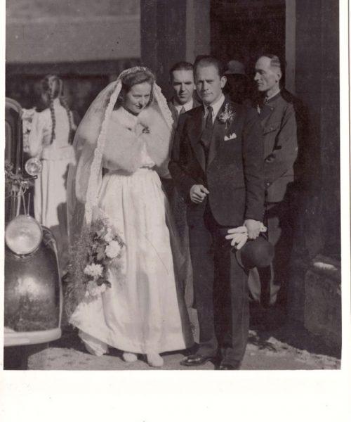 Casamento de Ana Primavesi em setembro de 1946, o primeiro na igreja de Judenburg após o fim da Guerra.