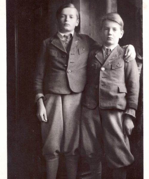 Sigmund e Wolfgang, irmãos de Ana Primavesi.