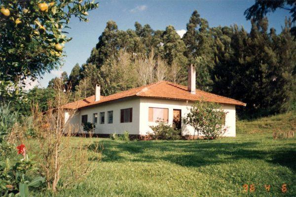 Casa projetada e desenhada por Ana em Itaí. Ela morou lá por 32 anos.