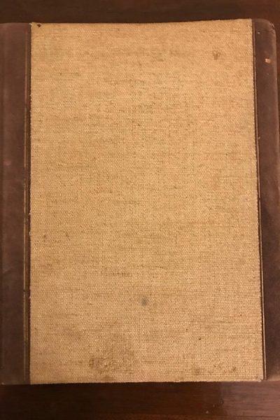 Livro de registro de visitas ao casal Primavesi quando foram morar na rua harmonia